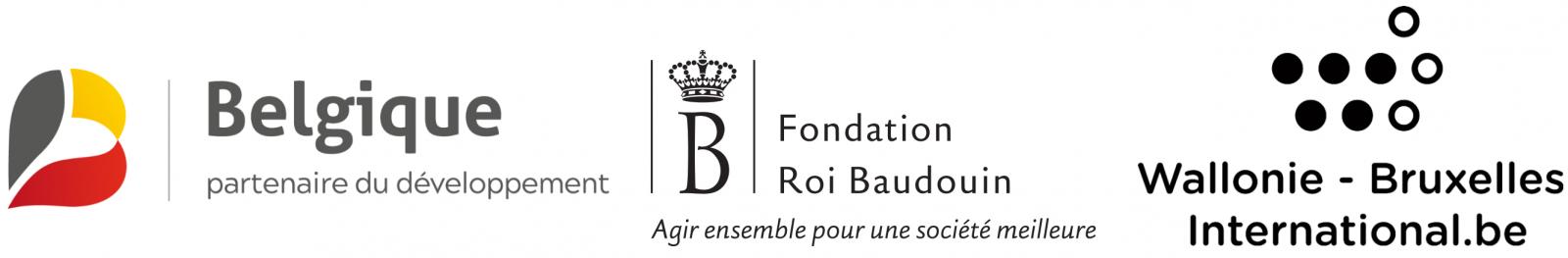 Avec le soutien de la Coopération belge au développement, de la Fondation Roi Baudouin et de Wallonie-Bruxelles International (WBI).